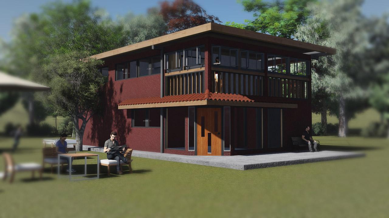 Ok casa sf mostazal 01 arquitectura y for Construccion de locales comerciales y oficinas