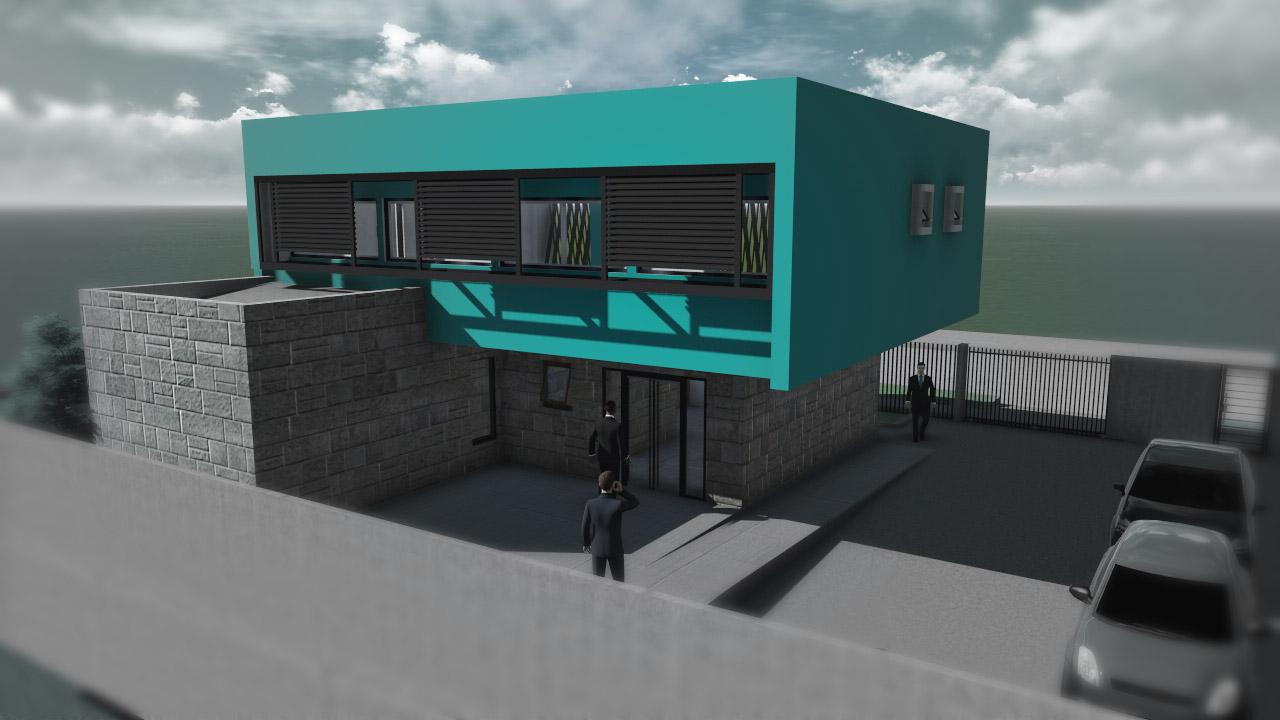 Ok ofic san miguel 02 arquitectura y for Construccion de locales comerciales y oficinas