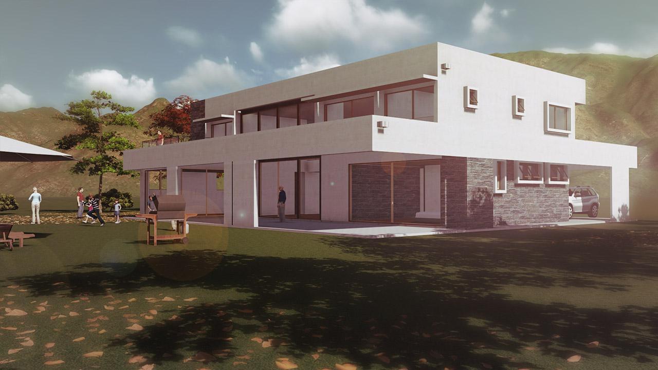 Vivienda polo manquehue arquitectura y for Construccion de locales comerciales y oficinas